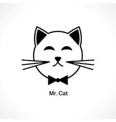 head of a cat vector image