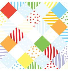 Plaid funny seamless patchwork vector image