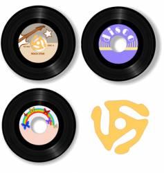retro 45 rpm record labels vector image