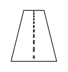 Road black color icon vector
