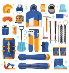Snowboard Equipment Set vector image vector image