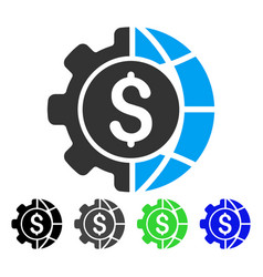 world industry finances flat icon vector image