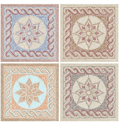 Antique mosaic vector image