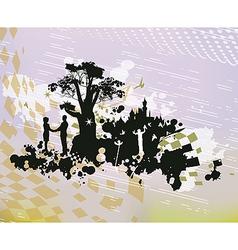 Castle Romance Fantasy Concept vector image vector image