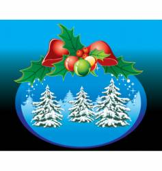Christmas illustrations vector image