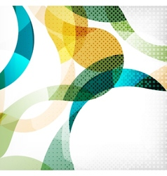 Colorful swirl wave lines vector image vector image