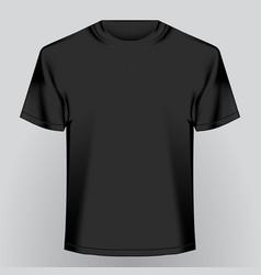 black empty t-shirt vector image