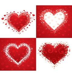 decorative love hearts vector image
