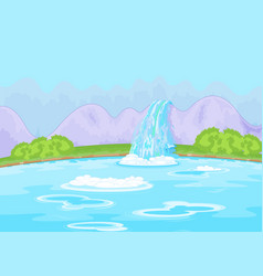 fabulous waterfall vector image vector image