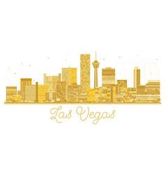 Las vegas usa city skyline golden silhouette vector