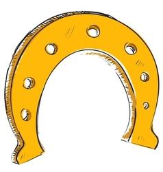 Lucky horseshoe cartoon icon vector image vector image