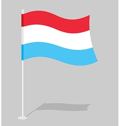 Luxembourg flag Official national sign of Grand vector image vector image