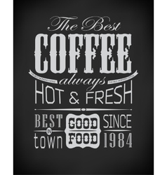 Set of coffee cafe typographic elements vector image