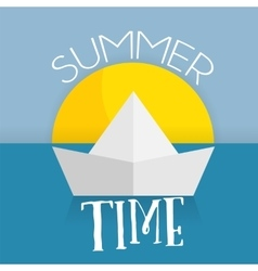 summer time card web icon vector image vector image