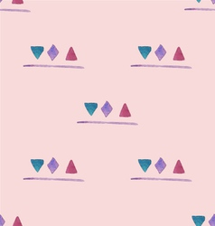 Watercolor shapes pattern vector image