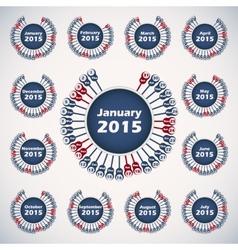 calendar 2015 template vector image
