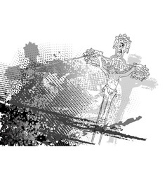 jesus christ on the background vector image