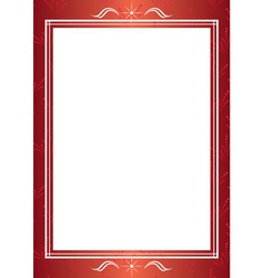red decorative frame with white center vector image vector image