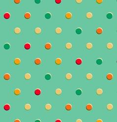 Retro polka dot seamless pattern vector image vector image