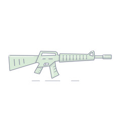 a machine gun in a cartoon style vector image