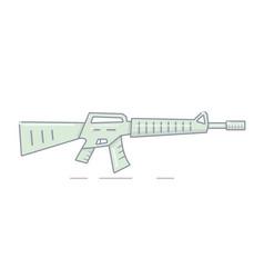 a machine gun in a cartoon style vector image