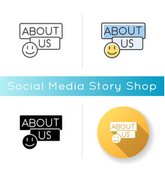 About us icon vector