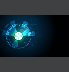 abstract technology background concept health vector image