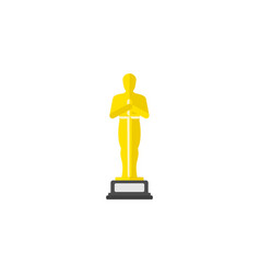 academy award icon in flat style vector image