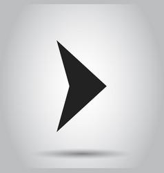 arrow icon business concept arrow flat pictogram vector image