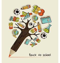 Back to School pencil tree vector image vector image