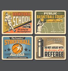Basketball school streetball fan club game vector
