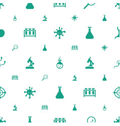 Biology icons pattern seamless white background vector