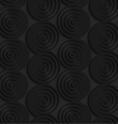 Black 3d connecting spirals with thick edge in a vector