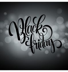 Black friday sale background Lights bokeh vector image
