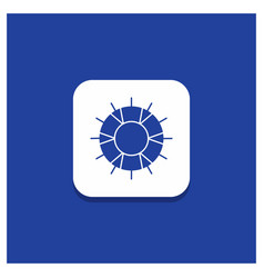 Blue round button for help lifebuoy lifesaver vector