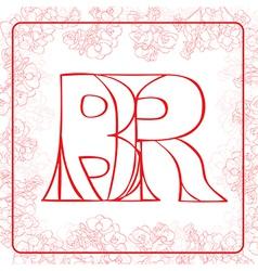 BR monogram vector image