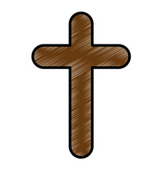 christianity cross symbol vector image