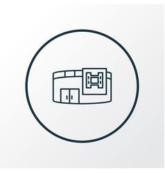 cinema icon line symbol premium quality isolated vector image