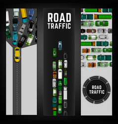 City traffic banner vector