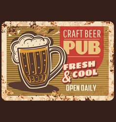 craft beer pub rusty plate brewery production vector image
