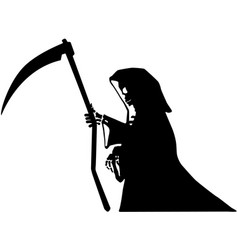 Death black stencil vector