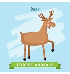 deer forest animals vector image