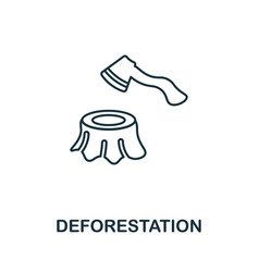 Deforestation icon simple element from global vector