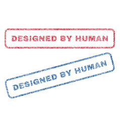 designed by human textile stamps vector image