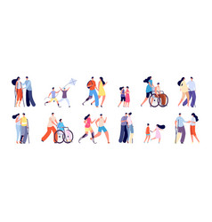 Disabilities and friends disablement person vector