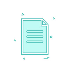 document icon design vector image
