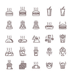 Fast and junk food vector