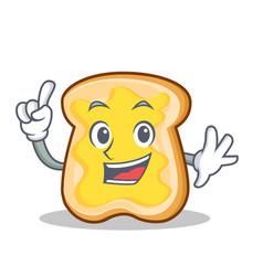Finger slice bread cartoon character vector