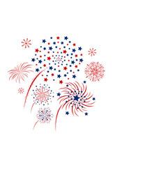 Firework design isolated on white background vector