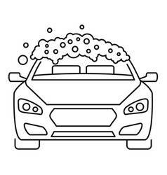foam wash car icon outline style vector image